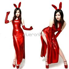 Adult Sexy Red Rabbit Bunny Party Cosplay Womens Halloween Costume Fancy Dress