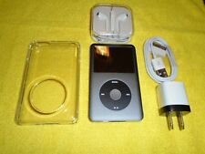 Apple iPod classic 7th Gen Grey (Ssd256 Gb) + extras! Mc297 excellent condition