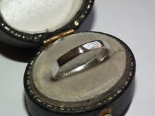 Octagon 1930`s Art Deco Solid Platinum Band / Wedding Ring, Lovely Example!