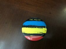 Vintage THE POLICE SYNCHRONICITY 1.25'' Small Button Pin