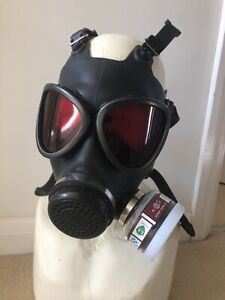 Horror Halloween Gas Mask With Custom Made Red Tinted 3mm Acrylic Lenses