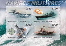 Warships warship Yamato Bismarck  Burundi 2012 m/s Sc.1946 MNH #BUR12714a