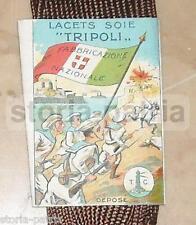 """LACETS SOIE """"TRIPOLI_COLONIE_LIBIA_MILITARIA_GRANDE GUERRA_TRICOLORE_MARINA_NAVI"""