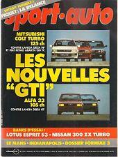 SPORT AUTO 270 1984 GP MONACO CANADA DETROIT 24H DU MANS ACROPOLE LOTUS ESPRIT