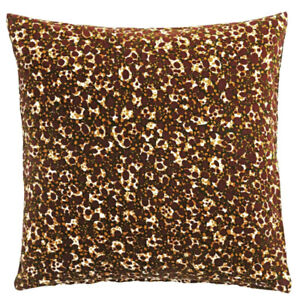 "Ikea DEKORERA Pillow Cushion Cover 20"" x 20"" Velvet Dotted Wine LIMITED - NEW"