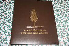 AMERICA'S NATIONAL PARKS MINT STAMP PANEL COLLECTION FOLIO in BINDER