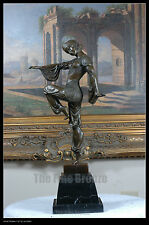 """Bronze statue """"Charm of the orient"""" art deco girl dancer. SIGNED D.H.Chiparus."""