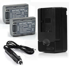 2x NP-FP50 Battery for Sony Handycam NP-FP51 DCR-HC85 DCR-DVD505 DVD105 +Charger