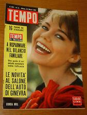 TEMPO 1963/12=GIORGIA MOLL=FORTUNINO MATANIA=SALONE AUTO GINEVRA=ALEXEI ADJUBEI