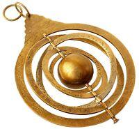21'' Nautical Antique Brass Astrolabe Arabic Globe Navigation Astrological Decor