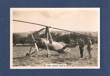 Rotary wing AUTOGYRO  AVRO ROTA original 1938 photocard