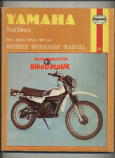 Yamaha DT175 (1971-1980) Haynes Shop Manual DT175MX DT125 DT 100 175 125 MX CM16