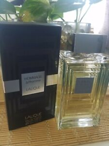 Lalique hommage a lhomme Edt Used 99% full 3.4oz exotic fragrance