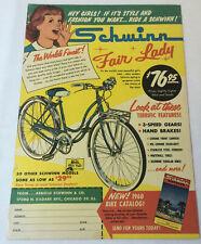 1960 SCHWINN FAIR LADY bicycle ad page