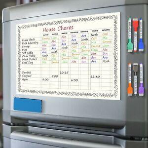 Scribbledo Magnetic Dry Erase Behavior Chore Chart for Refrigerator 11X17 Inc...
