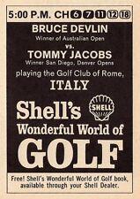 1967 TV GOLF AD~CIRCOLO GOLF CLUB ROME,ITALY~BRUCE DEVLIN VS TOMMY JACOBS