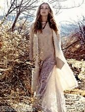 NEW Free People ivory Shaggy & Furry Luxe Cashmere Long Vest M