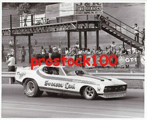 12 DIFFERENT MUSTANG FUNNY CAR'S  BLACK & WHITE PHOTO'S