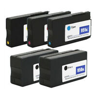 5-Pack 950XL 951XL ink cartridges for HP Officejet Pro 8640 8415 8610 8600 Plus