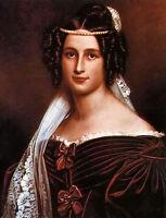 Oil painting 克雷斯岑蒂亚·冯·厄廷根·瓦勒施泰因公爵夫人 - stieler crescentia The Duchess of Crescent