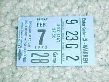 1975 Chicago Blackhawks v Vancouver Canucks Hockey Ticket 2/7