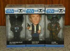 Funko - 2008 Star Wars - Bobbleheads - Set of 6 - Han Solo, Luke Skywalker, Yoda