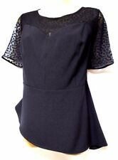 plus sz XS / 14 TS TAKING SHAPE EVENT WEAR Orient Peplum Top sexy NWT! rrp$150