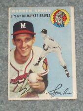 1954 Topps Baseball #20 Warren Spahn VG No Creases