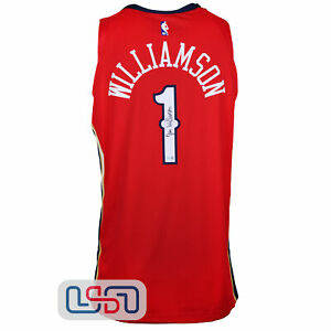 Zion Williamson Signed Red Authentic Pelicans Nike Swingman Jersey Fanatics Auth