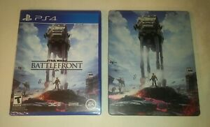 NEW SEALED Star Wars Battlefront PS4 Game + Exclusive Steelbook Bundle MINT