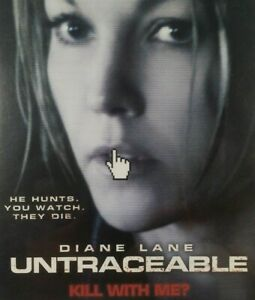 Untraceable DVD Diane Lane Horror Drama Creepy Suspense Thriller Crime