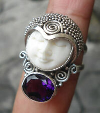Amethyst Sterling Silver Handcrafted Rings