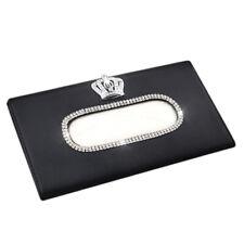 Fashion Crown Crystal Car Tissue Box Sun Visor Leather Auto Tissue Bag Sunv Q7E6