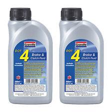 2 x Granville DOT 4 Synthetic Brake & Clutch Fluid Oil SAE J1703 500ml