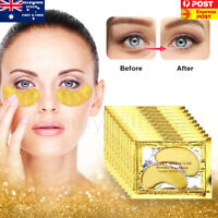 10 Pairs Gold Gel Anti-Wrinkle Dark Circle Collagen Under Eye Patches Pad Mask