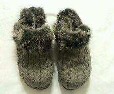 UnionBay Clog Mule Shoes Size 3 M Slide-On Faux Fur Gray Children