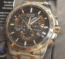 Citizen Men's AT-4109-54E Atomic Radio Control Perpetual Chrono Two Tone Watch