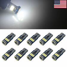 10x White Car T10 194 W5W Corner Light Reading Bulb Error Free 15 3014 LED 12V