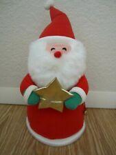 "Euc 12"" Plush Santa Claus Hallmark Tree Topper"