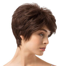 Real Human Hair Natural Short Hair Pixie Cut Wig African American Full Wigs