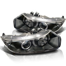 Fit 06-11 Civic 2Dr Coupe Black Dual Halo LED Projector Headlights LX EX DX SI