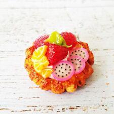 Dollhouse Miniatures Fruit Pie Bakery Mini Tiny Pastries Dessert Sweet Decor New