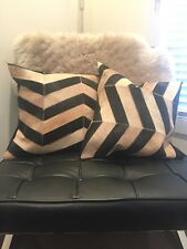 Genuine Cowhide Cushion Covers Sold As A Pair