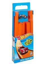 NEW 2013 Hot Wheels Workshop 15 ft. Orange Straight Track Builder Set With Car