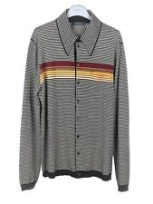 PRADA F/W 2017 Striped Polo Collar Wool Cardigan Sweater Jumper IT50/US40 NWT