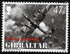 WWII D-Day RAF HANDLEY PAGE HALIFAX Heavy Bomber Aircraft Stamp (2004 Gibraltar)