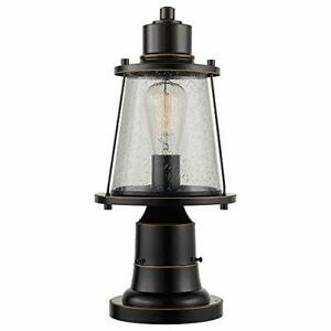 Globe Electric 44363 Charlie 1 Outdoor Lamp Post Light Fixture with Base Adap...
