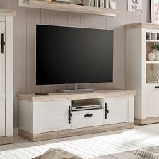 TV-Board Florenz Lowboard Unterschrank Fernsehunterschrank in Oslo Pinie weiß