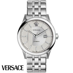Versace V18040017 Aiakos Automatic silver stainless steel Men's Watch NEW
