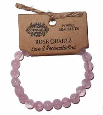 ROSE QUARTZ POWER BRACELET Love & Reconciliation CRYSTAL HEALING Heart Chakra
